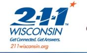 Graphic of 211 Wisconsin.org