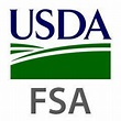 The green and blue USDA Farm Service Agency or FSA logo.