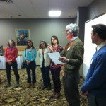 Tom Wojciechowski, Community Resource Development Educator-Ashland Co., sharing with the group