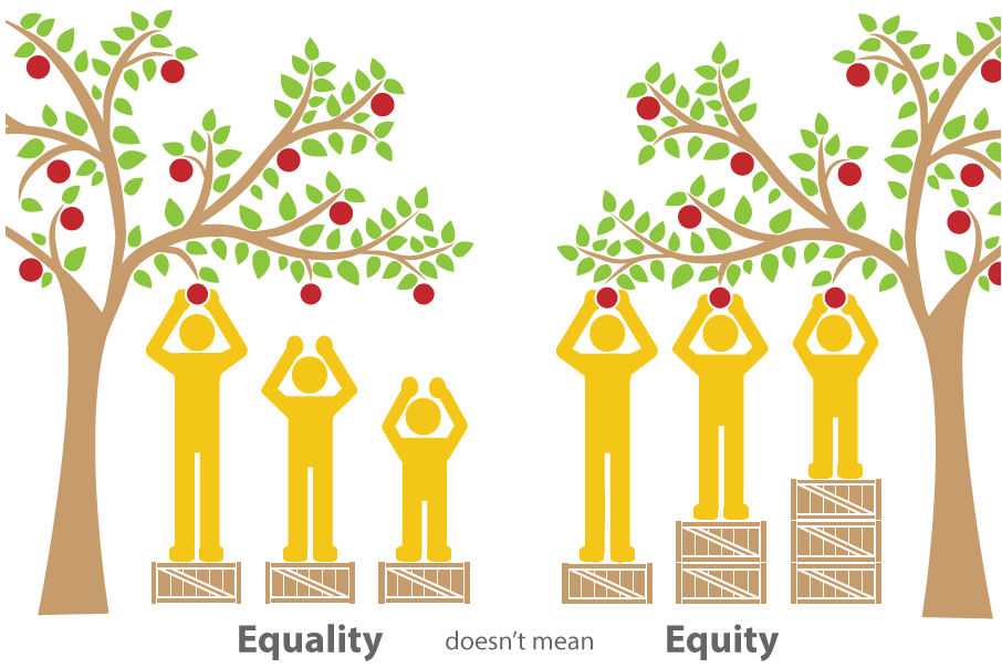 equality doesn't mean equity apple trees