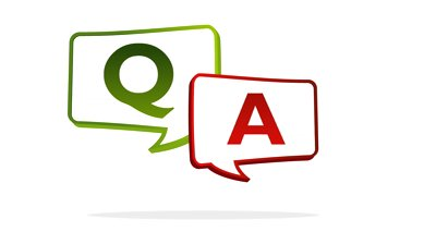 The letters Q and A in thought bubbles