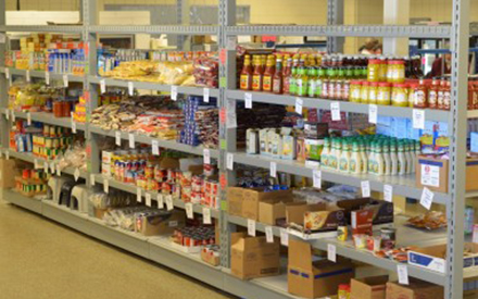 Stock a healthy food pantry