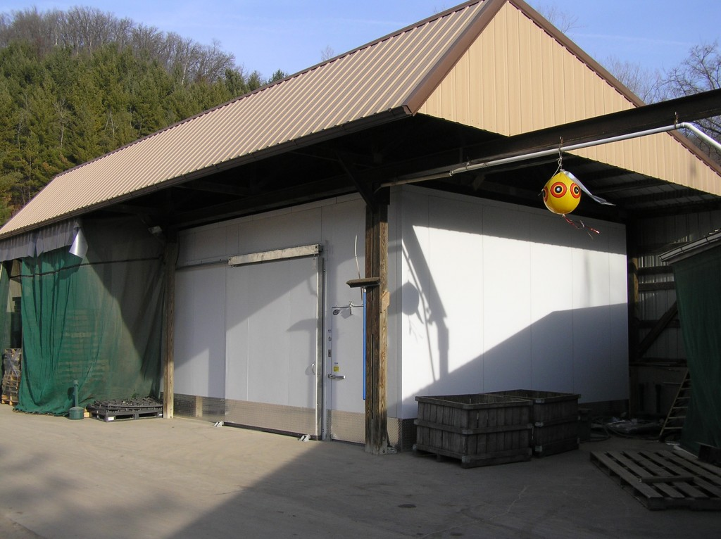 Drive-in Cooler under Roof