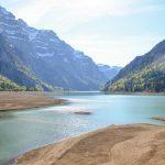 low water on lake