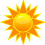 an image of a bright orange sun