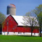 picture of a barn & silo