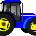 picture of a blue tractor