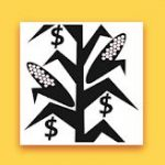 corn silage pricing app with corn stalks and dollar signs