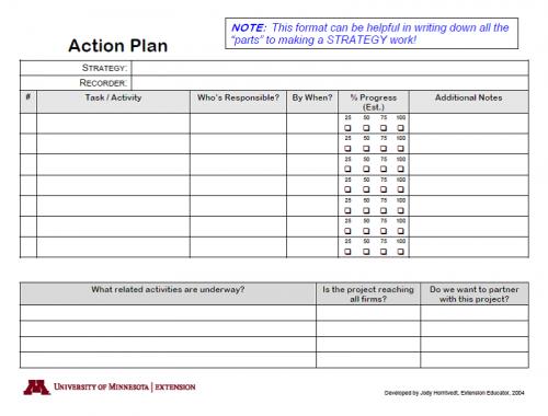 BRE Action Plan Worksheet