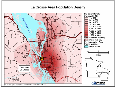 Sample Map Showing Population Density