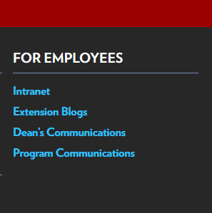 For Employees Footer