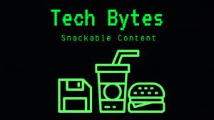 Tech Bytes computer screen logo