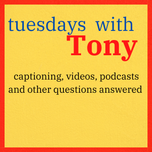 tuesdays with Tony