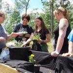 image of volunteers delivering a garden program