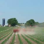 doing field work on the farm