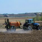 pesticide spraying in the field
