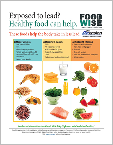 Exposed to lead? Healthy food can help
