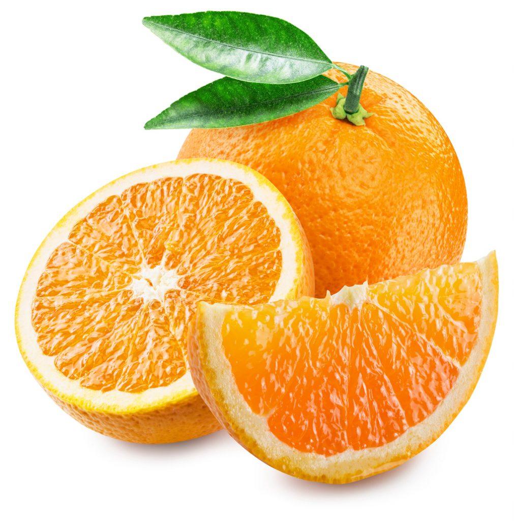Orange fruit and slices.