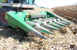 Picture 1. Self-propelled forage harvester with snapper head; Randy Shaver, UW-Madison