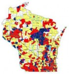 WI Radon measurement map
