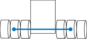 A diagram showing how to measure for axle gauge.