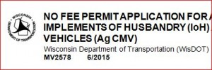 Screenshot of the header on the No Fee Permit
