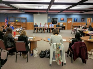 Photo - A panel of youth education experts discuss the future of education with LWC Class XVI (Weyauwega-Fremont school district)