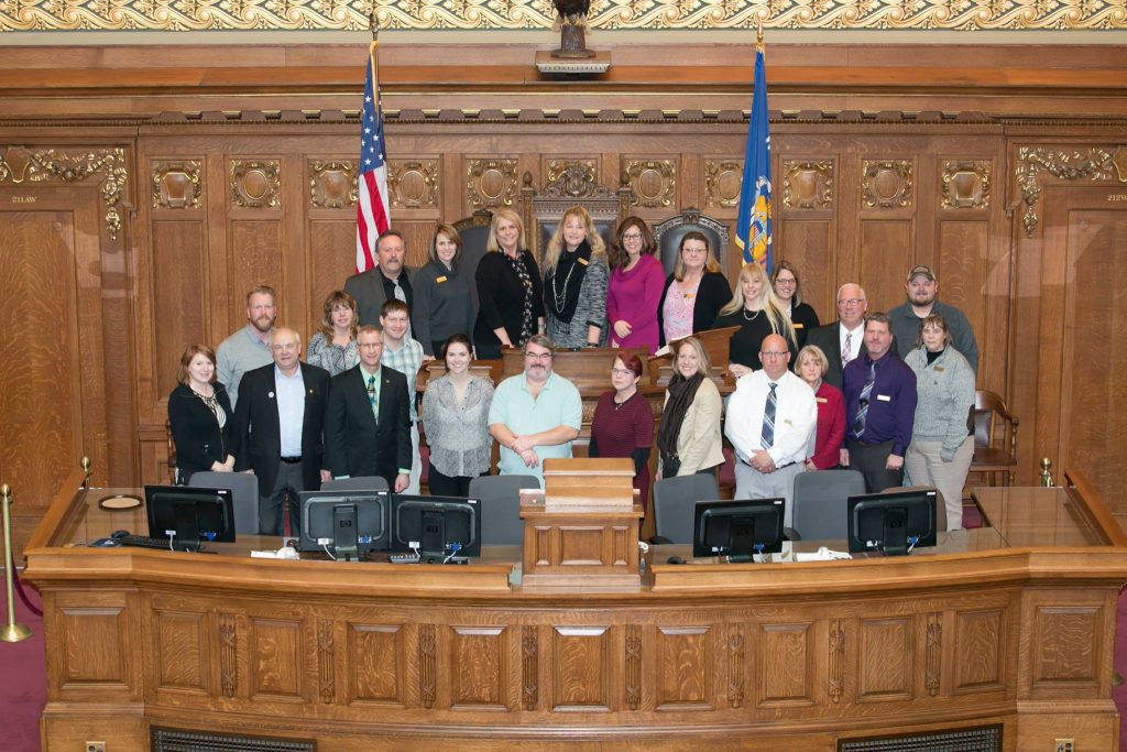 Leadership Waupaca County Class XVII in Madison - group photo