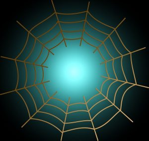 depicts a spider web, representing an interconnected system