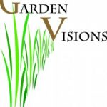 "Garden Visions Logo- green grass with words ""Garden Visions"""