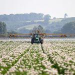 Potato blight spraying system, photo by Chafer Machinery, Retrieved via wikimedia commons.