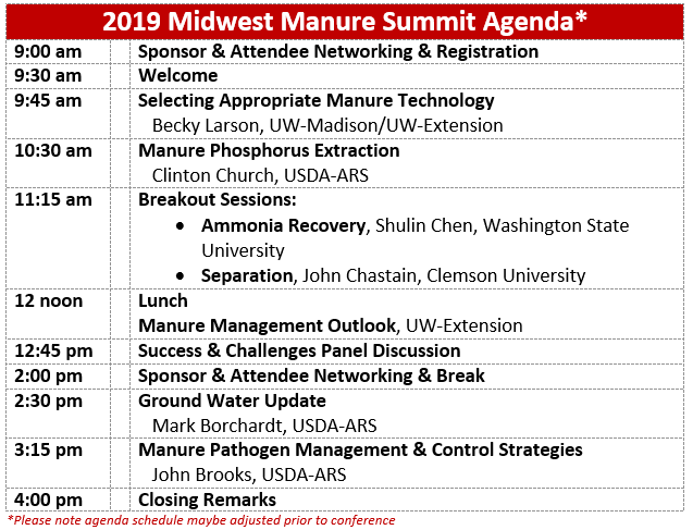 manure conference agenda