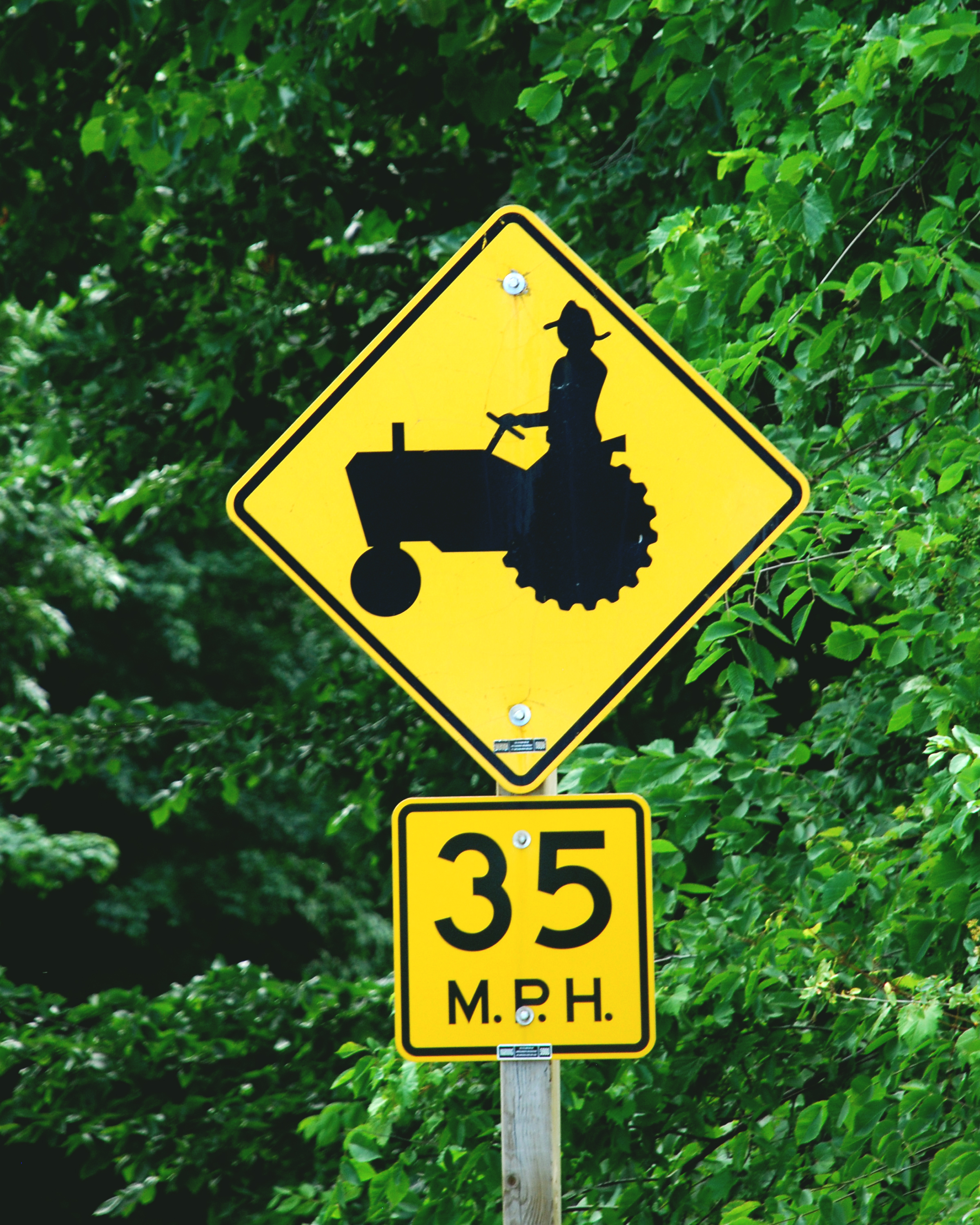 Big Slow Moving Tractor Sign : Tractor road sign news from cooperative extension