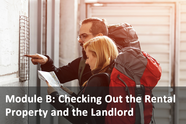 Module B: Checking Out the Rental Property and the Landlord