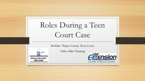 Roles During a Teen Court Case