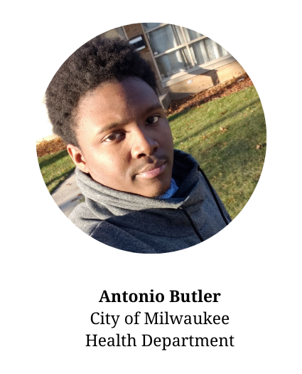 Headshot of Antonio Butler. Member of the planning committee and works for the city of Milwaukee Health Department