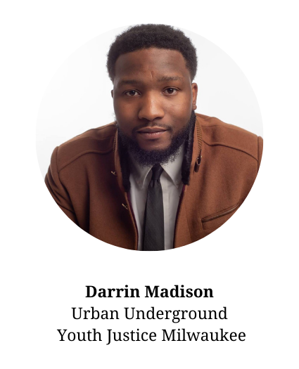 Headshot of Darrin Madison-member of the planning committee and part of Urban Underground and Youth Justice Milwaukee.