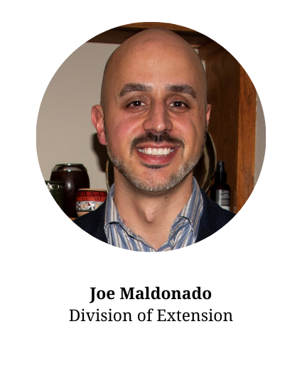 Headshot of Joe Maldonado-member of the planning committee and part of the division of extension.