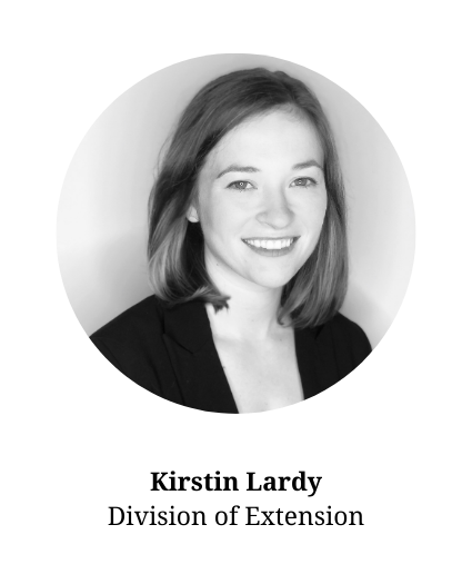Headshot of Kirstin Lardy-member of the planning committee and part of the Division of Extension