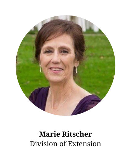 Headshot of Marie Ritscher-member of the planning committee and part of the division of Extension