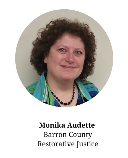 Headshot of Monika Audette-part of the planning committee and part of the Barron County Restorative Justice Program.