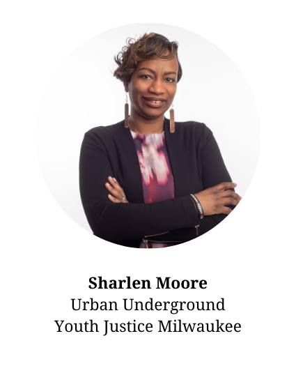 Headshot of Sharlen Moore - Member of the planning committee and part of Urban Underground and Youth Justice Milwaukee.