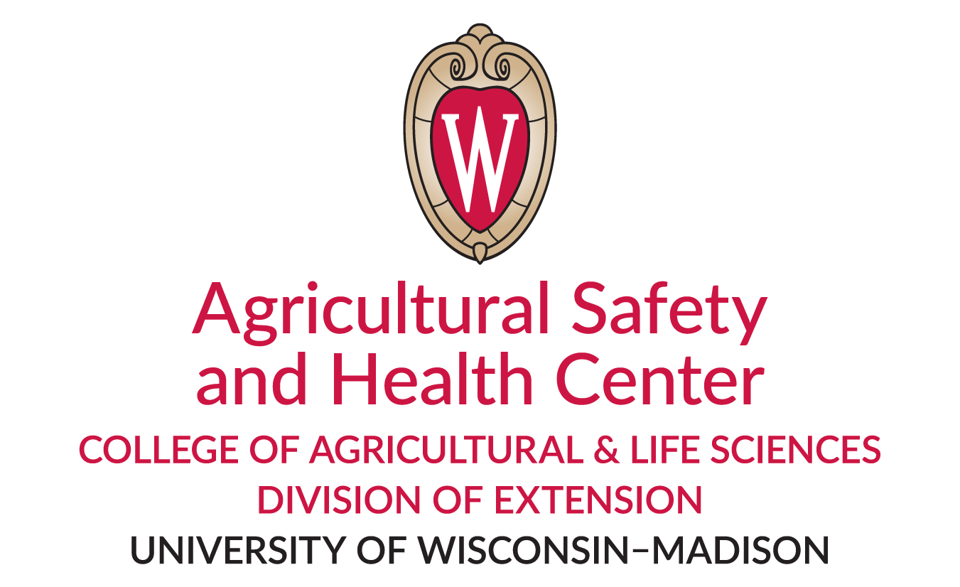 The UW Crest identifying Agricultrual Safety and Health Center , College of Agriculture and Life Sciences, Divison of Extension, UW-Madison