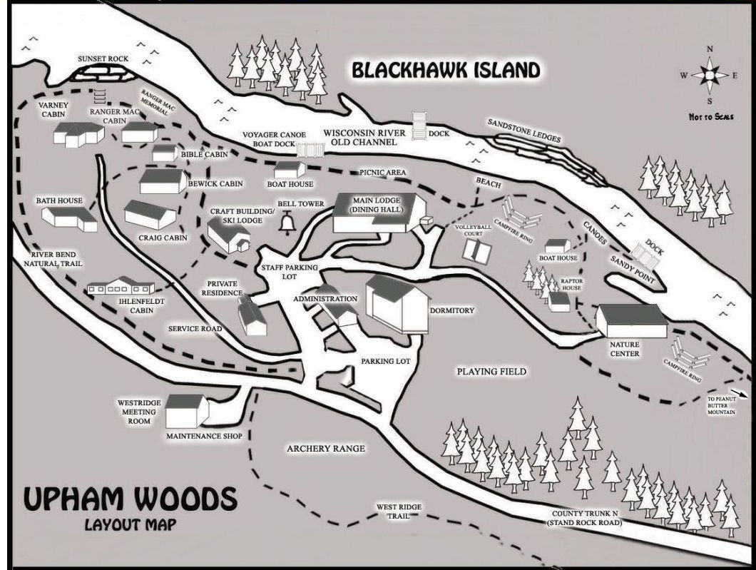 Upham Woods Map