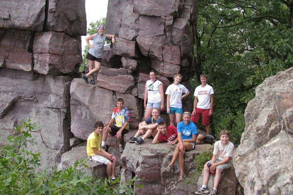 Outpost group at Devils Lake
