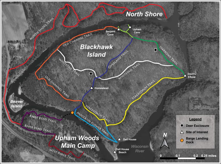 Upham Woods Trail Map
