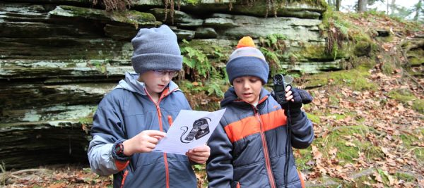 Budding meterologists collecting weather data