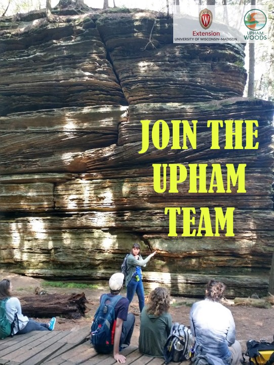 Join the Upham Team (in front of sandstone)
