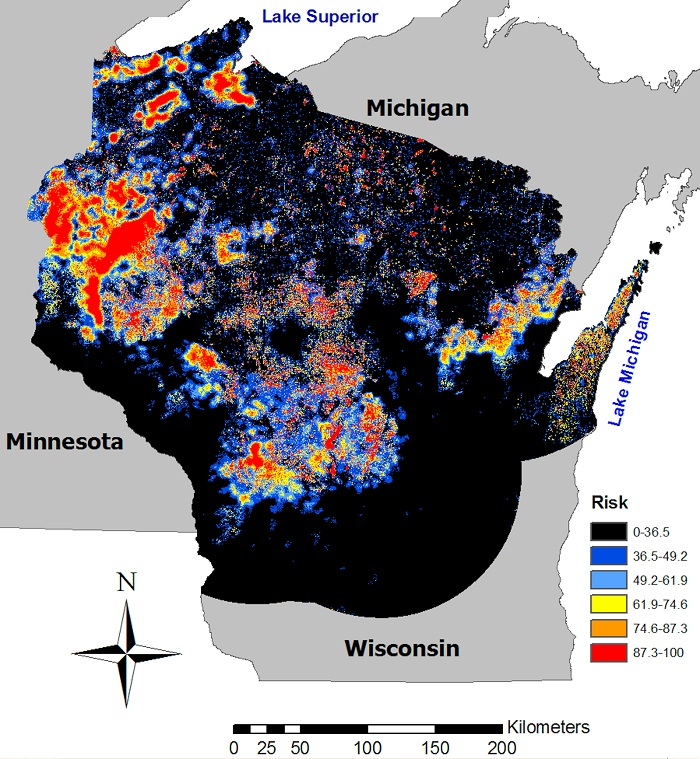 Wisconsin Coyote Population Map  Dog Breeds Picture