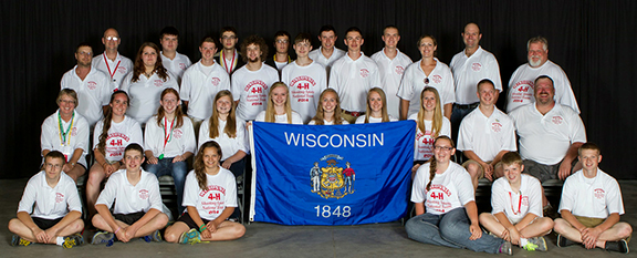 Wisconsin's 2014 National 4-H Shooting Sports Team in Grand Island, Nebraska.